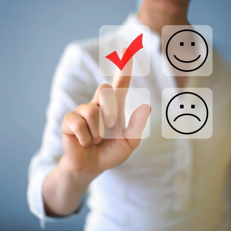 Happy and sad face choice - customer service