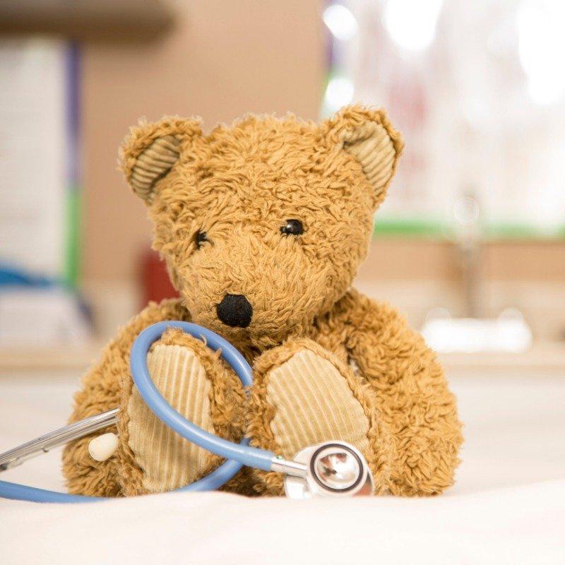 Teddy bear with stethoscope