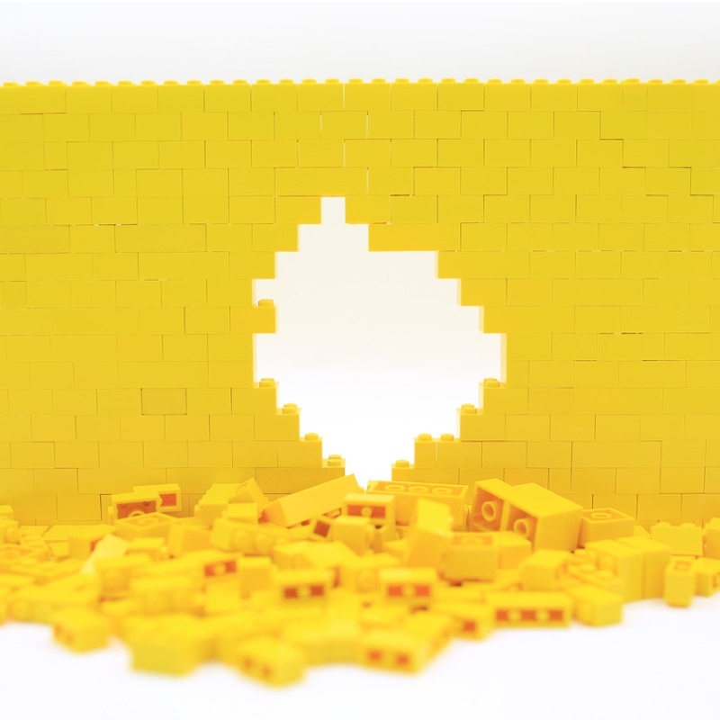 Yellow Lego Wall